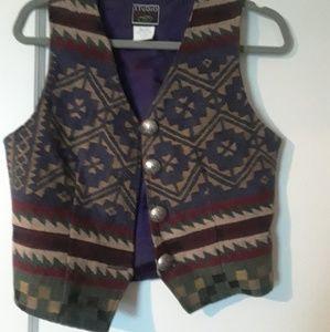 Vintage Southwest print vest size small